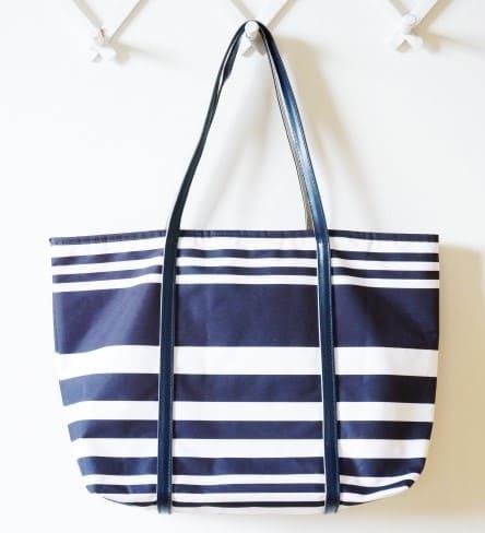 紺と白のマリン風マザーズバッグ