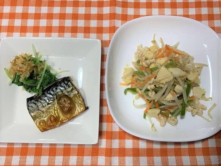 ヨシケイのカットミールで作った食事