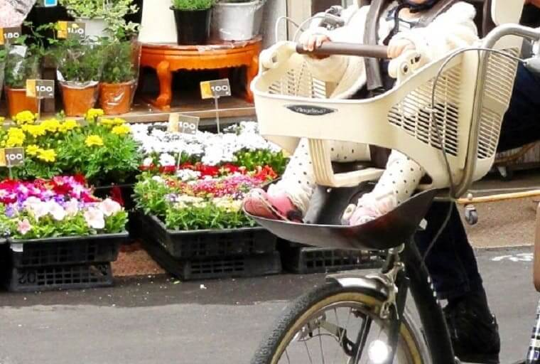 自転車の幼児用フロントシート