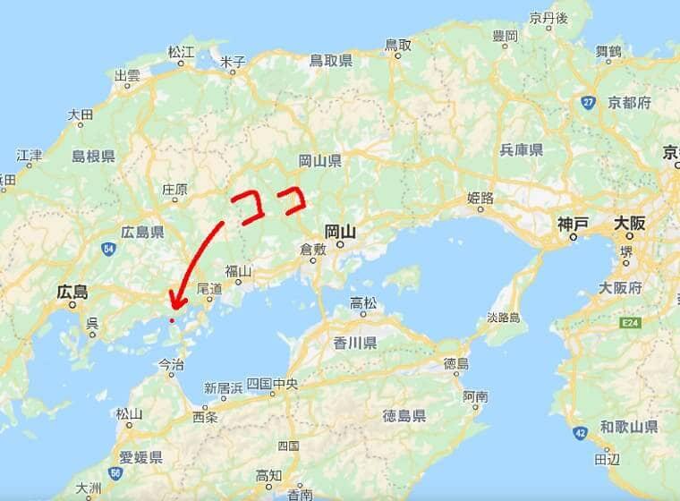 広島県大久野島の地図