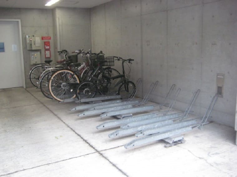 マンションの自転車駐輪場