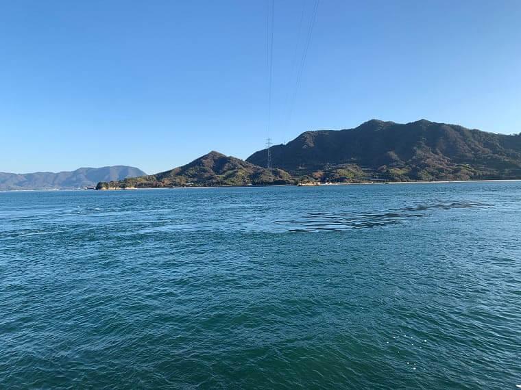 大久野島から見た海