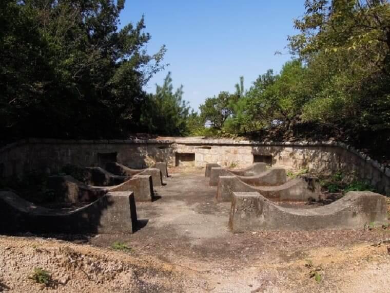 広島県大久野島の北部大砲跡