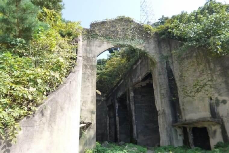 広島県大久野島の毒ガス貯蔵庫