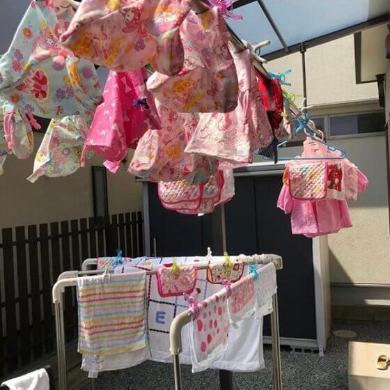 双子の1日の保育園の洗い物
