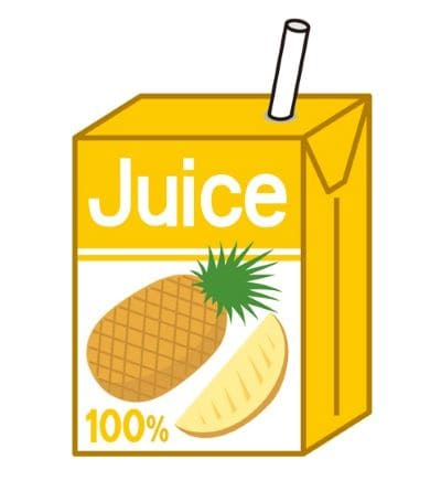 パイナップルジュースのイラスト