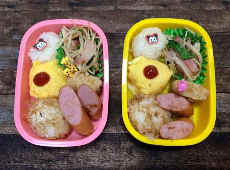 好き嫌いがある3歳双子女子のお弁当