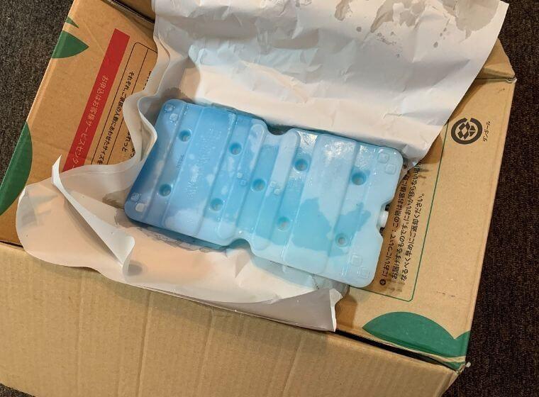 らでぃっしゅぼーやの配送段ボールに入っている保冷剤